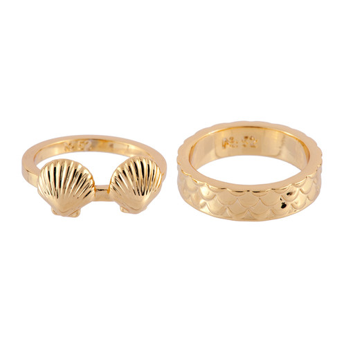 Shells & Fish Scales  set of 2  Rings | AFJS601/1