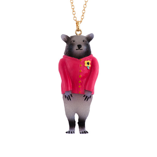 60+5 Cm Theé Smith Family Racoon Necklace | AFSM3031