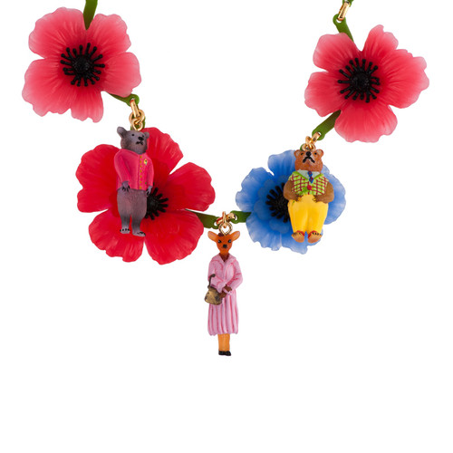 Statement 40+5 Cm Theé Smith Family Flowers & Animals Necklace | AFSM3071