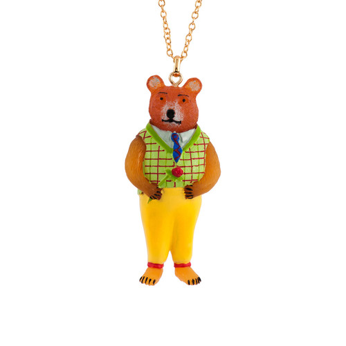 60+5 Cm Theé Smith Family Bear Necklace | AFSM3061