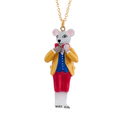 60+5 Cm Theé Smith Family Mouse Necklace | AFSM3051