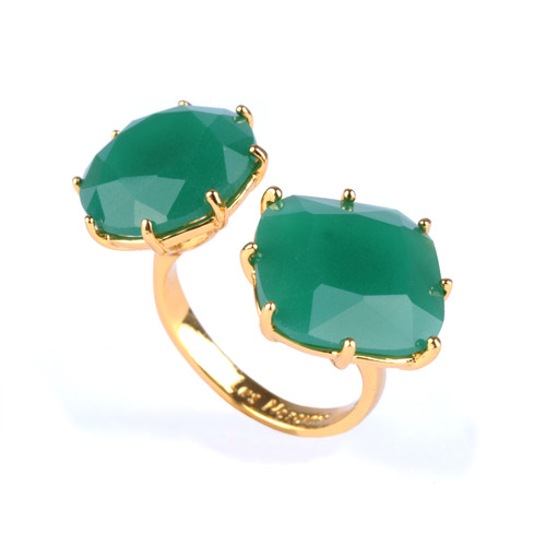 Double Diamantine Emerald Green Rings | YLD611/2