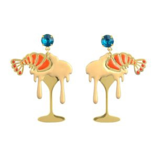 Sucre-Sale Shrimp With Mayonnaise Earrings   ABSS105T/1