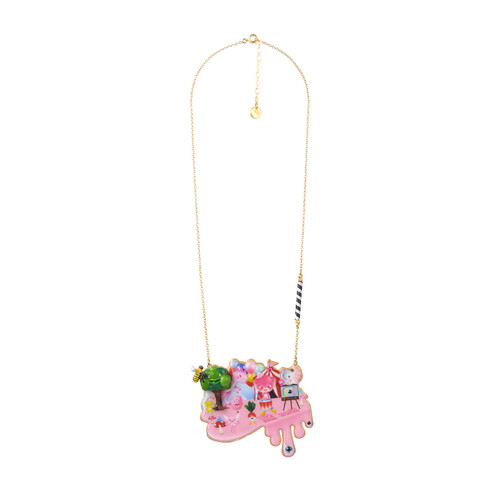 50+5 Cm Candy Monster At Theé Funfair Necklace | ABCM3091
