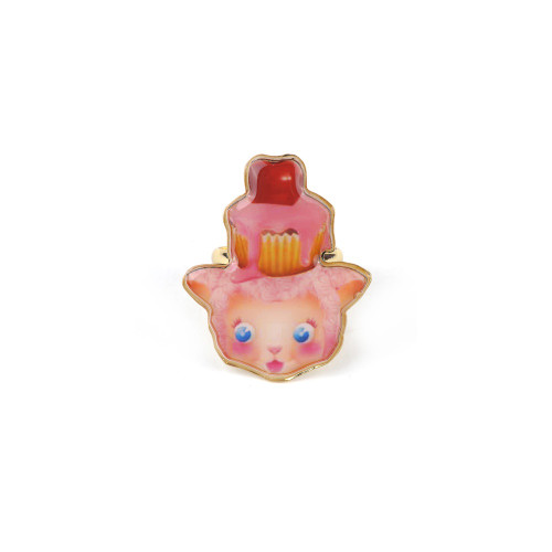 Candy Monster Pink Cupcake Monster Rings | ABCM6051