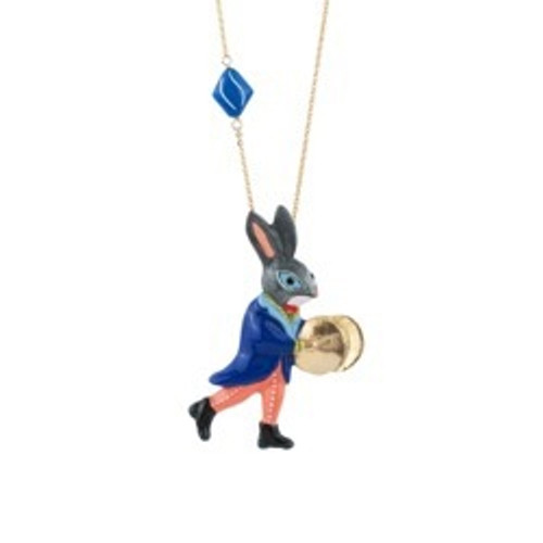 75+5 Cm Fanfare Large Rabbit Playing Theé Cymbals Necklace | ACFF3131