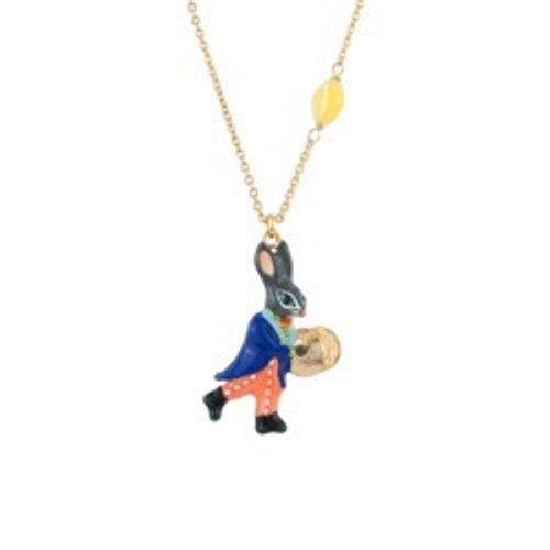 45+5 Cm Fanfare Rabbit Playing Theé Cymbals Necklace | ACFF3031