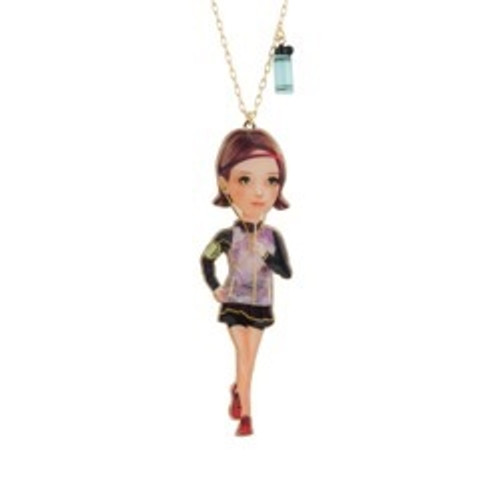 70+5 Cm Urban Sports Jogger Girl Necklace | ACUS3031