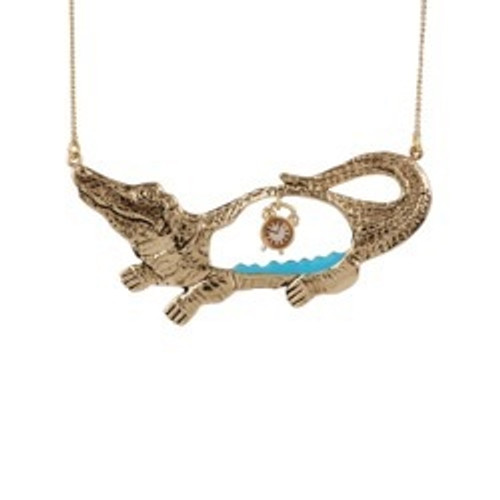 72+4 Cm Contes Dores Theé Ticking Clock In Theé Crocodile'S From Neverland Crocodile Necklace | ACDO3021