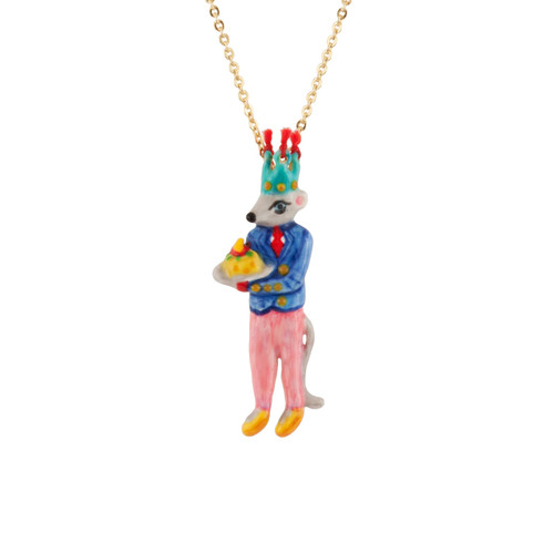 Birthday Mouse Mouse & Cheesecake Necklace | AEBM3051