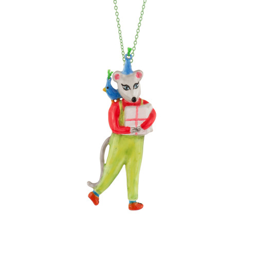 Birthday Mouse Mouse & Gift Necklace | AEBM3081