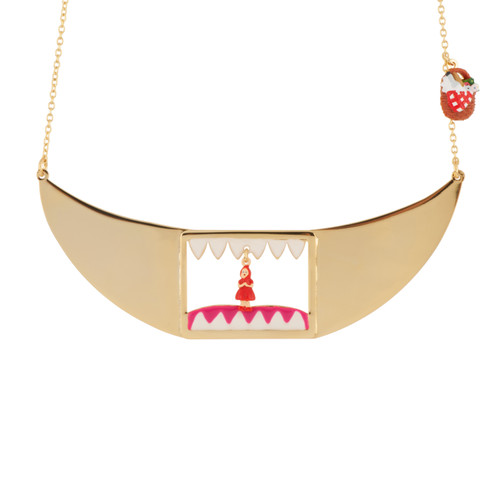 Little Red Riding Hood In Wolf'S Mouth Necklace | AECR3011