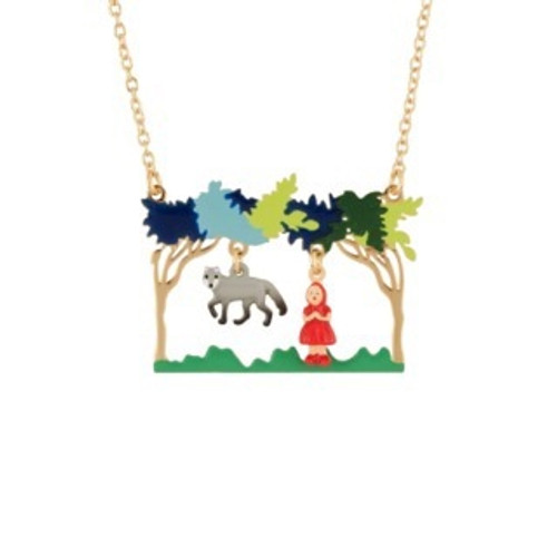 Promenons Nous Little Red Riding Hood & The Wolf Meeting Theé Wolf Necklace | AECR3061