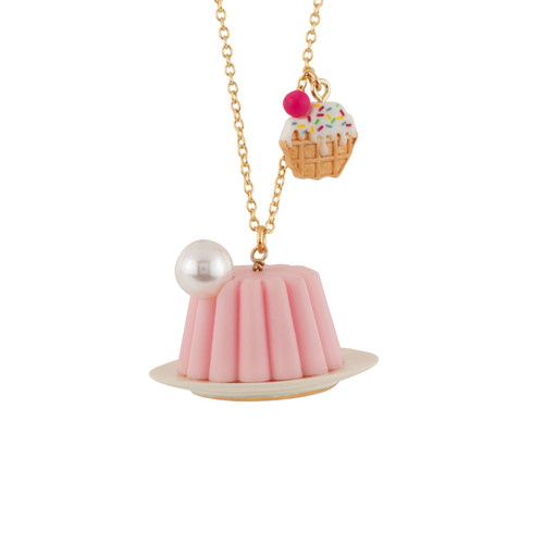 65+5 Cm So Sweet Waffle W/ Icing & Pink Jelly Necklace | AESS3061