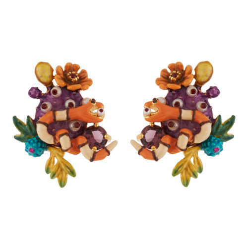 Cactus And Snake Earrings | AGDC1071
