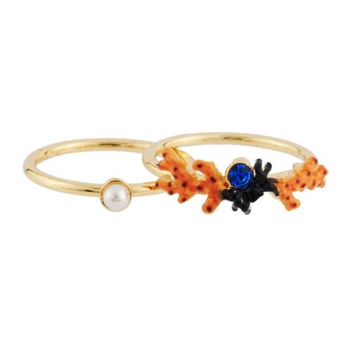 Coral And Sea Spider Set of 2 Rings | AHEP6041