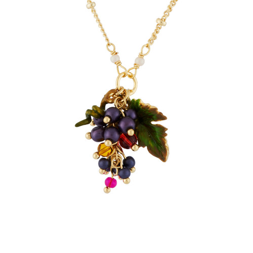Grapes And Small Leaf  Necklace | AHPO3061