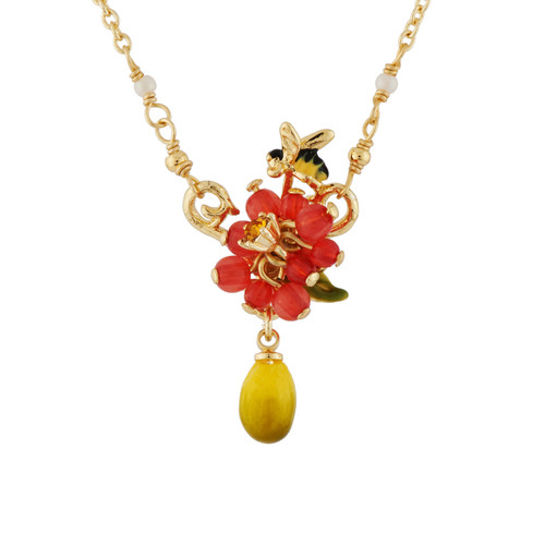 Small Berries, Bee And Lemon  Necklace | AHPV3131