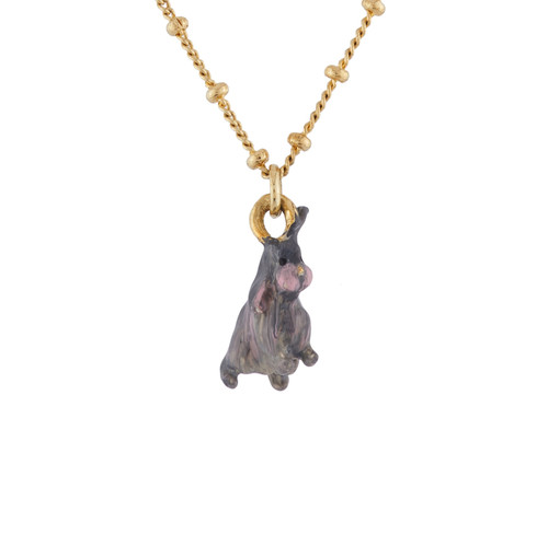 Grey Lop-eared Rabbit Necklace | AIDC3131