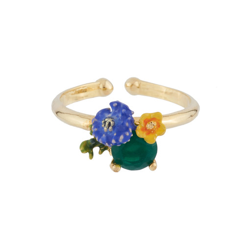 Corn Flower And Butter Cup Adjustable Ring | AIDC6051