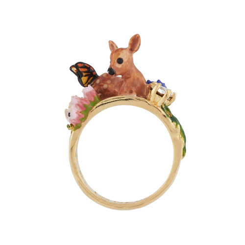 Fawn With Resting Butterfly Rings | AIDC604/11