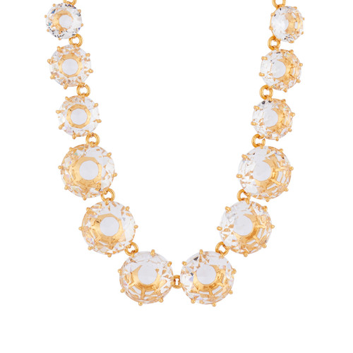 Crystal Round Stones And Chain La Diamantine Long Necklace   AILD3512