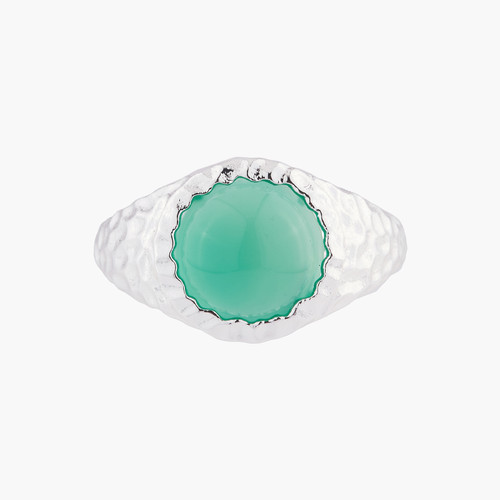 Green Agate Solitaire Rings | AKBC603/21