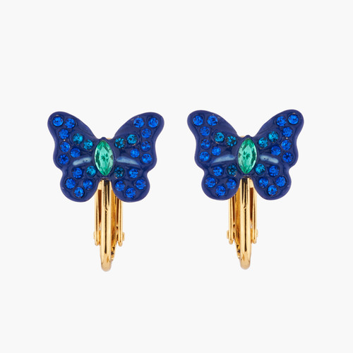 Ulysses Butterfly And Crystals Earrings | AKEP105