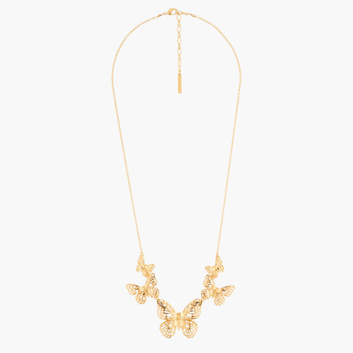 Flying Butterflies Collar Necklace   AKEP303