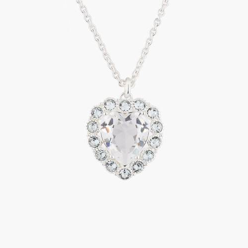 Heart And Crystals Pendant  Necklace | Akjv3022