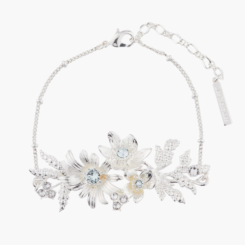 """Shining Bouquet With Crystals """"Yes, I Do"""" Chain Bracelet 