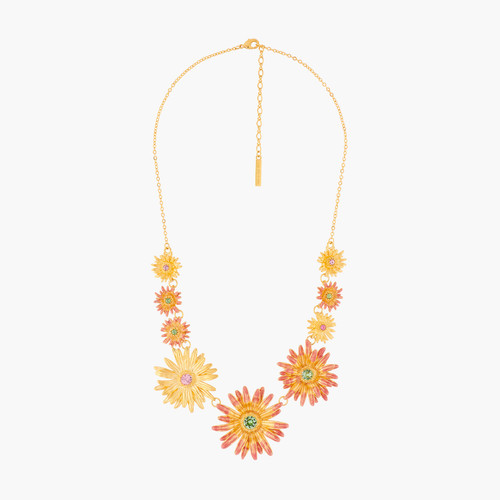Flower Of Love And Crystals Collar Necklace | ALFA3021