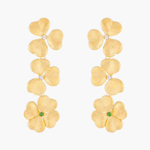 Clovers And Crystals Earrings   ALFC101C/1