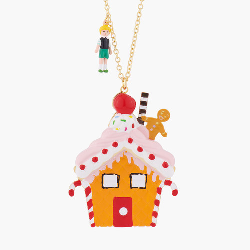 Hansel And Gretel At Theé Witch'S House Pendant Necklace | ALHG3021