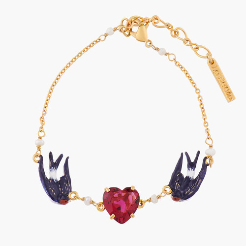 Swallow And Heart Chain Bracelet | ALLA2021