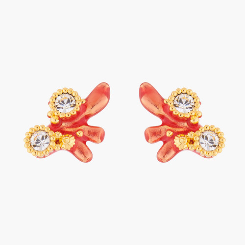 Red Corals And Crystals Earrings | ALPC1081