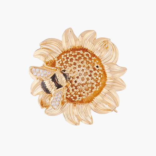 Sunflower And Bumblebee Brooch Brooch | ALNS5021
