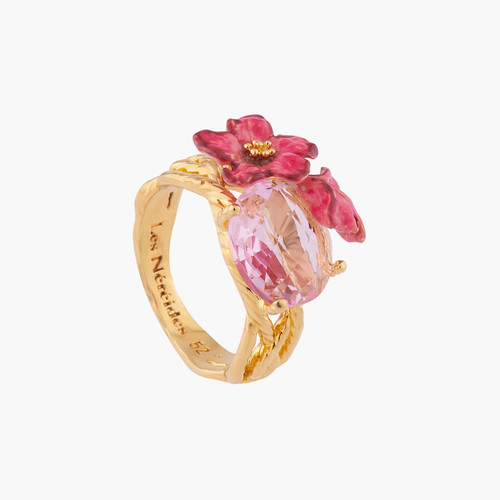 Oleander Blossoms Cocktail Rings | ALPE603/11
