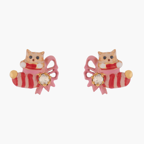 Kitty And Christmas Stocking Earrings | AKNO101