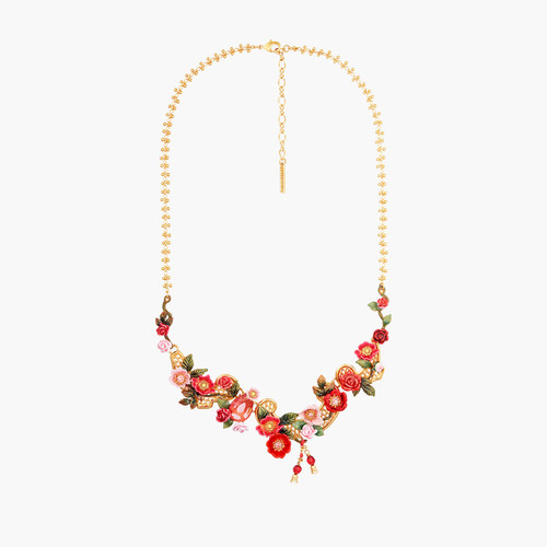 Antique And Wild Roses Collar Necklace   AMAR3011