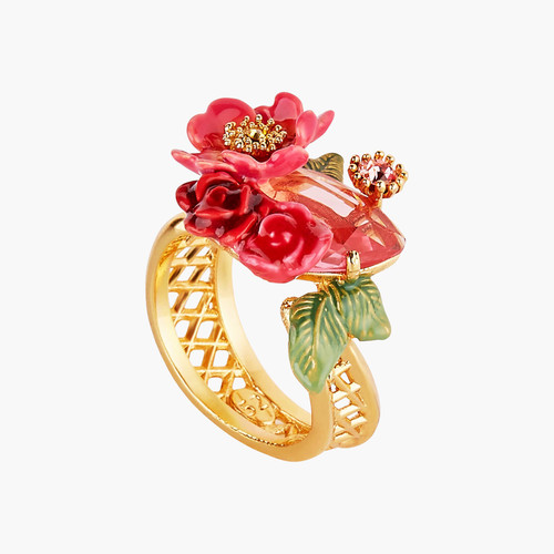 Antique And Wild Roses Cocktail Rings | AMAR605/1