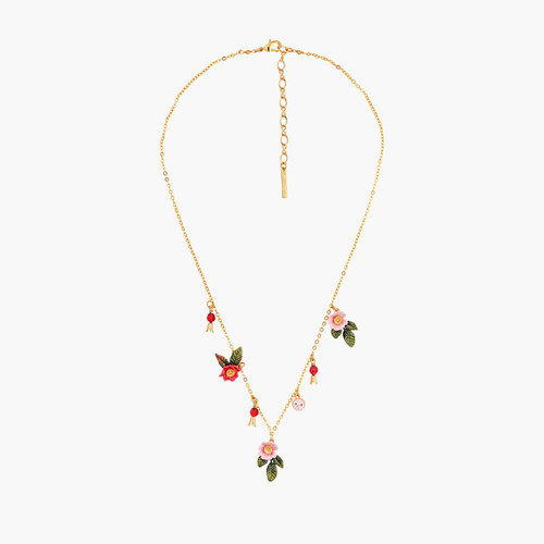 Wild Roses Thin Necklace | AMAR3071