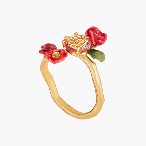 Wild Roses And Trellis Adjustable Rings | AMAR6031
