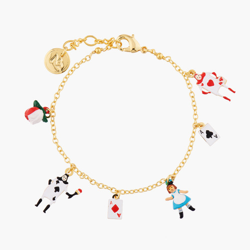Alice And Theé Card Soldiers Charms Bracelet | AMAL2031