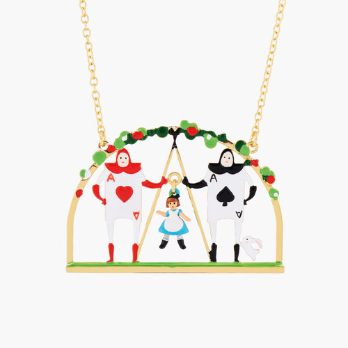 Alice And Theé Card Soldiers Pendant Necklace | AMAL3091
