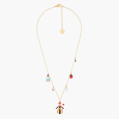 Alice And Theé Queen Of Hearts Thin Necklace | AMAL3121
