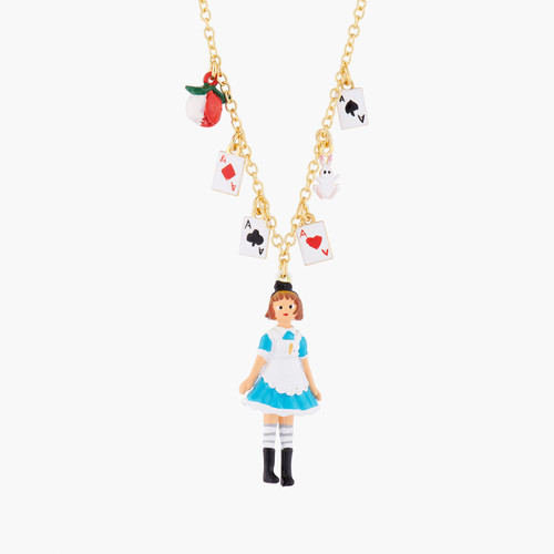 Alices And Deck Of Cards Pendant Necklace | AMAL3101