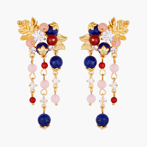 Redcurrant And Miraculous Flowers Creoles Earrings | AMCM1011