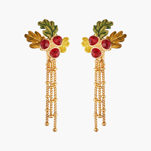 Acorn And Chains Earrings | AMEF1031