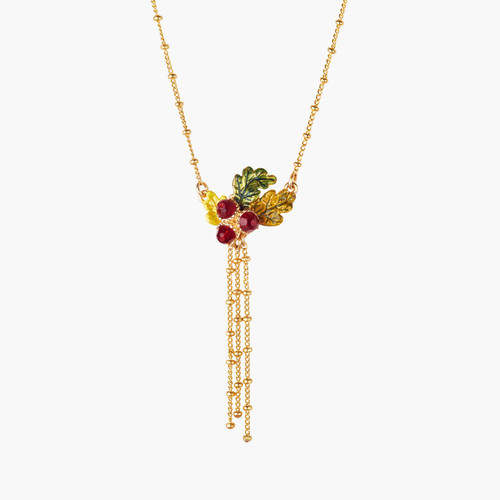 Acorn And Chains Pendant Necklace   AMEF3061